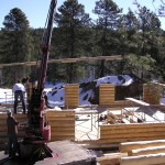 construction photo full log home